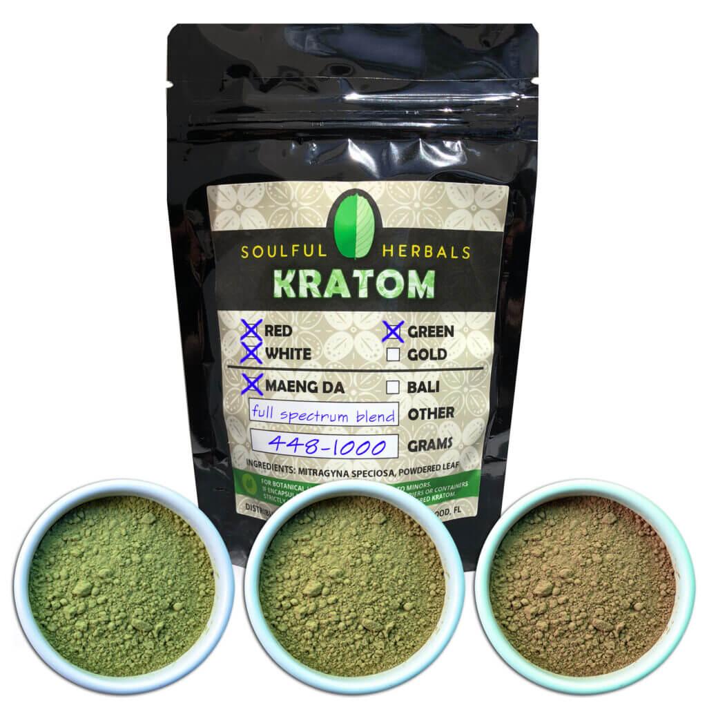 Blended Kratom Powder - Trainwreck - Full Spectrum