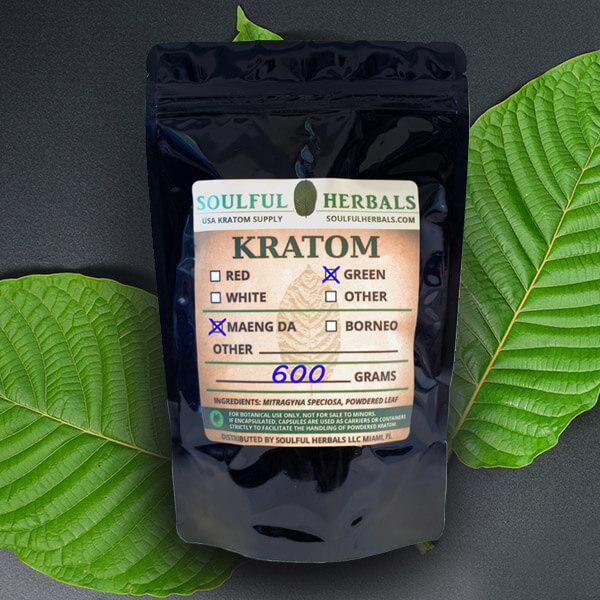 600g Kratom Powder Split into 4-Strains