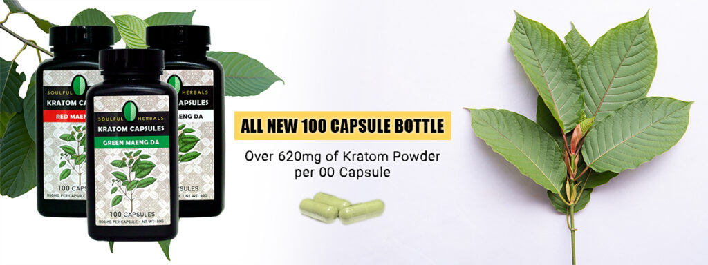 Buy Kratom Powder Capsules - 100 Count 00 620mg Capsule