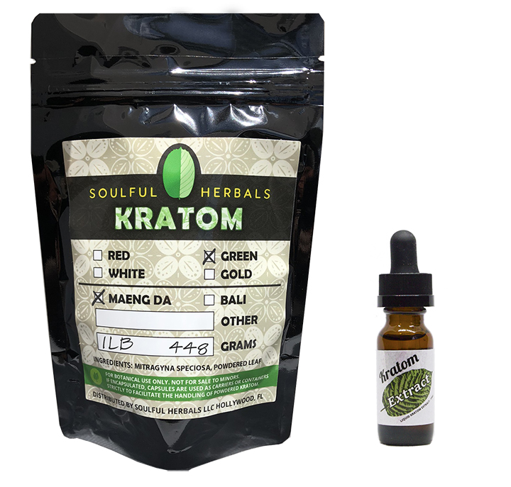 1 Lb Discount Kratom Bundle with Liquid Kratom Extract